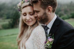 Bohemian Wedding - flower head piece bride